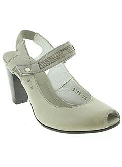 Sandales/Nu pieds gris O.X.S pour femme