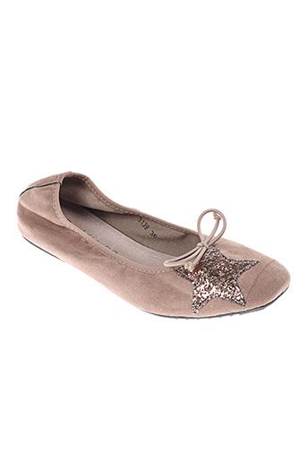 SUREDELLE Chaussures Ballerines de couleur beige en soldes pas cher 1403934 beige0 Modz