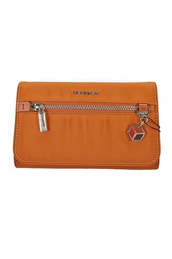 Pochette orange HEDGREN pour femme