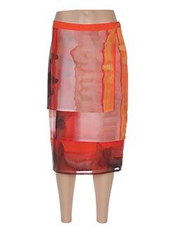 Jupe mi-longue orange JEAN DELFIN pour femme
