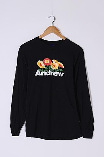 T-shirt manches longues noir ANDREW pour femme