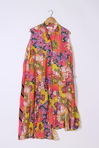 Robe longue rose CIRCUS pour femme