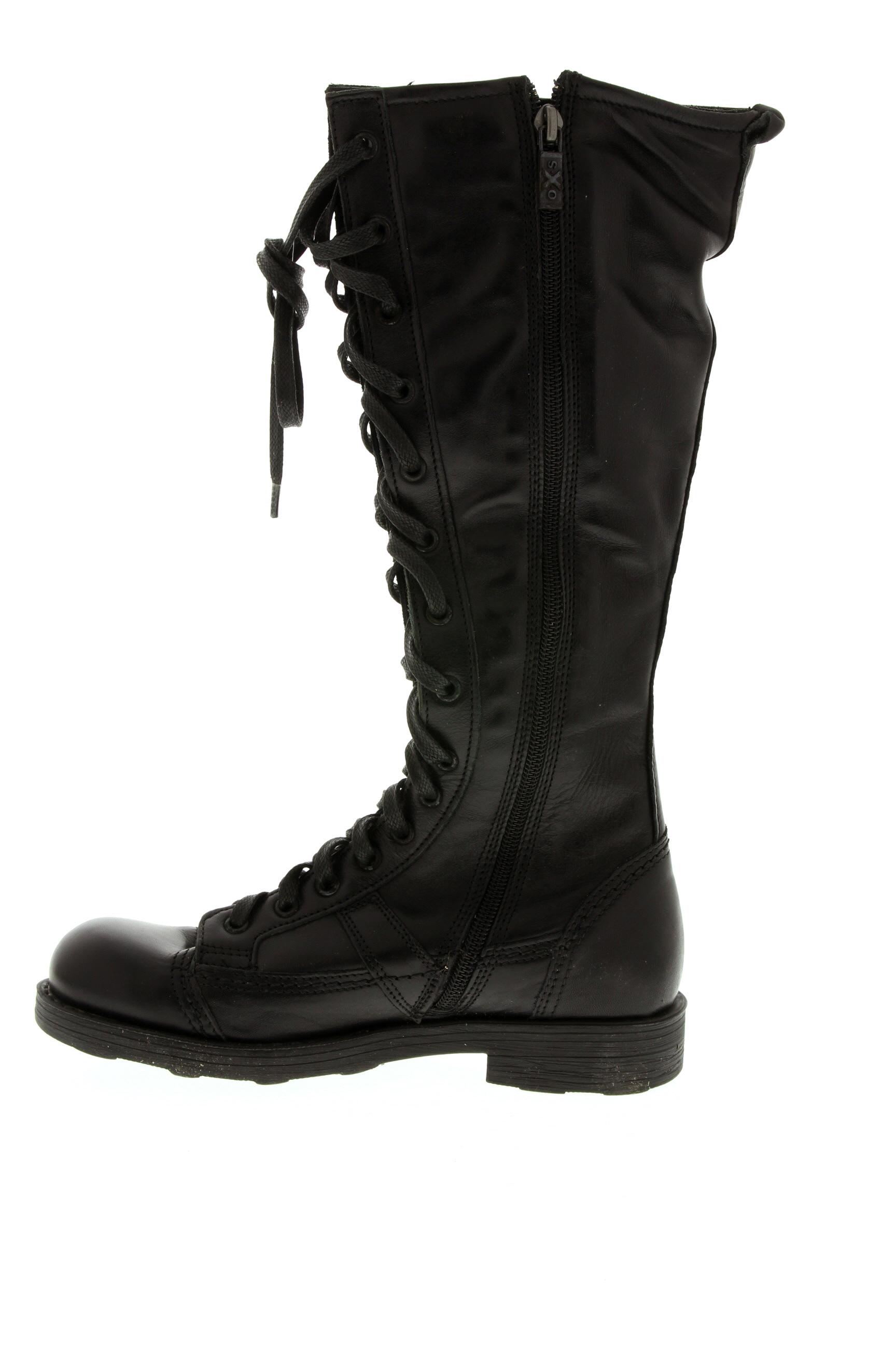 O.X.S Chaussures Bottes de couleur noir en soldes pas cher 1399557 noir00 Modz