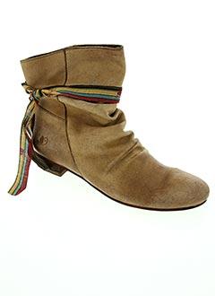 Bottines/Boots beige LE TEMPS DES CERISES pour femme