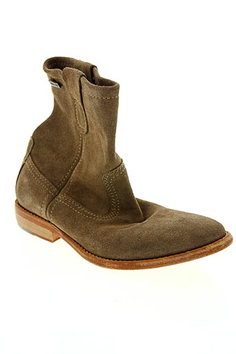 Bottines/Boots beige BEE.FLY pour femme