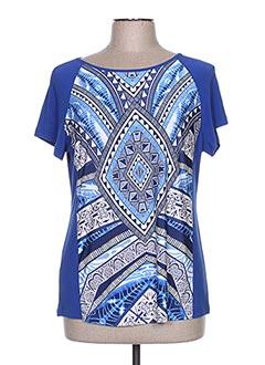 T-shirt manches courtes bleu ARONA SAN FRANCISCO pour femme
