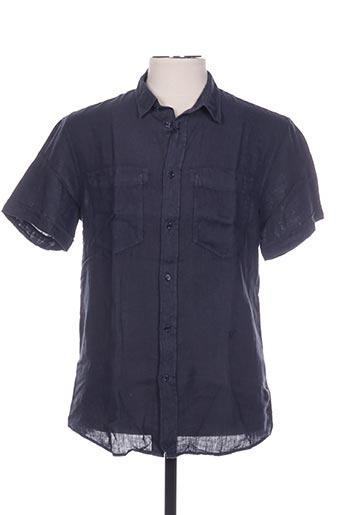 Chemise manches courtes bleu TRUSSARDI JEANS pour homme