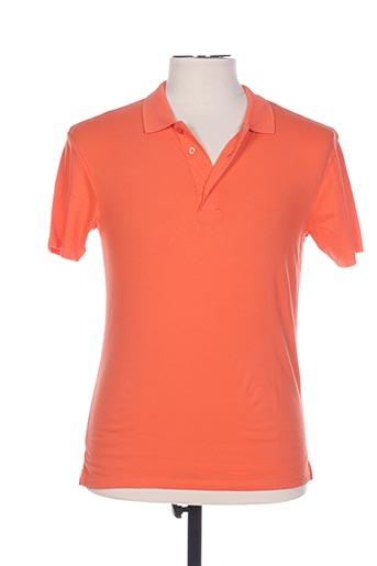 Polo manches courtes orange ANONYM APPAREL pour homme