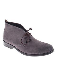 Bottines/Boots gris TRUSSARDI JEANS pour homme