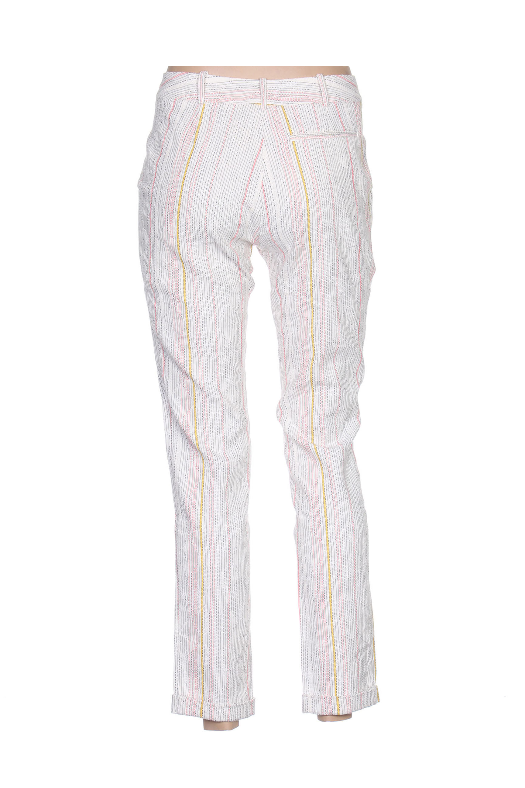 Tinsels Pantalon7 8 Femme De Couleur Blanc En Soldes Pas Cher 1406277-blanc0