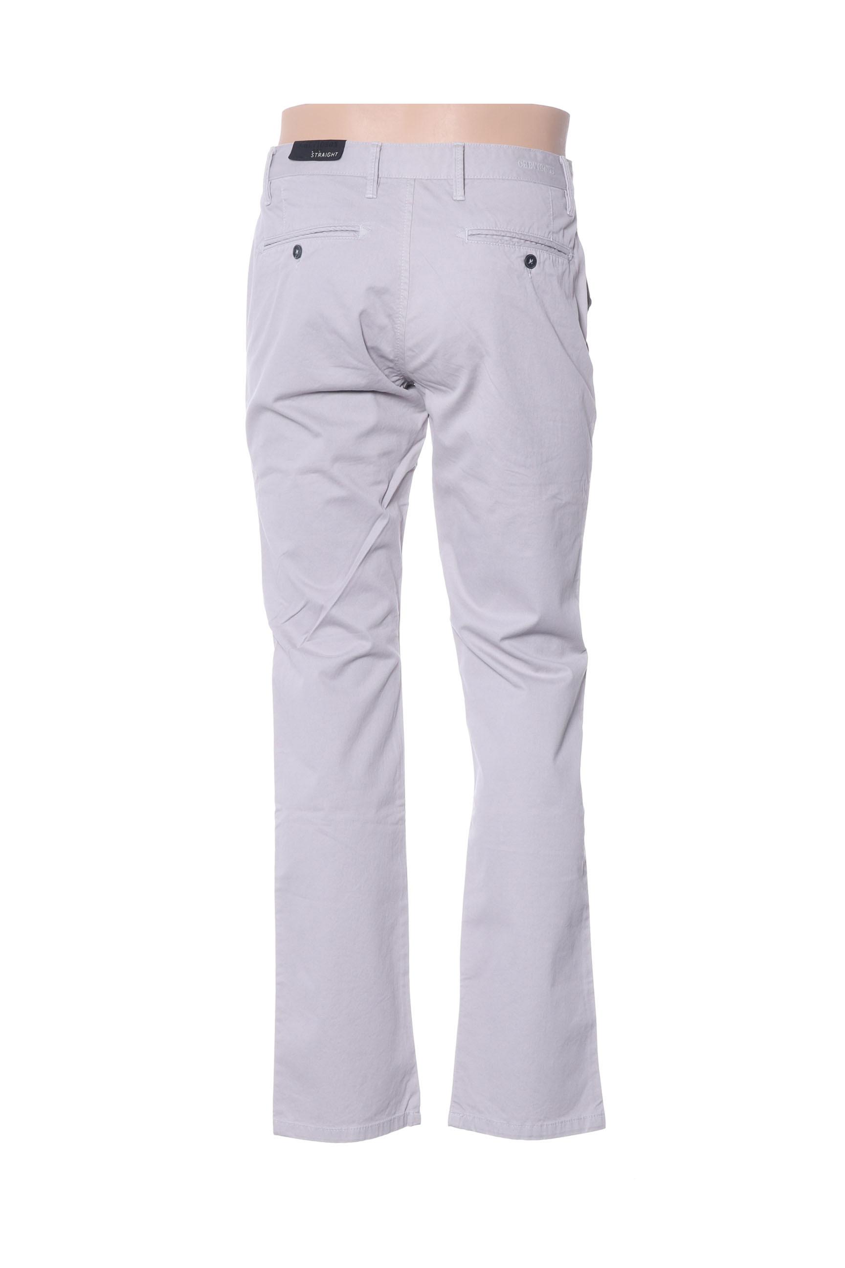 Chevignon Pantalons Decontractes Homme De Couleur Gris En Soldes Pas Cher 1408959-gris00