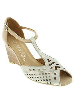 Sandales/Nu pieds gris HISPANITAS pour femme
