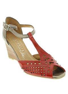 Sandales/Nu pieds rouge HISPANITAS pour femme