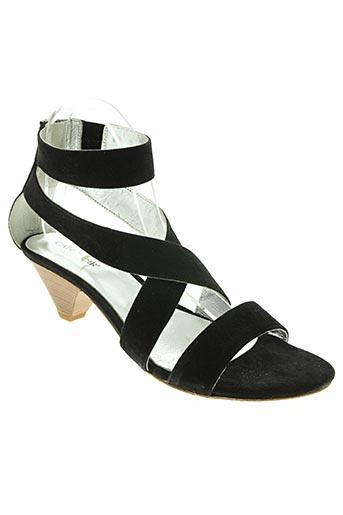Sandales/Nu pieds noir CAFE NOIR pour femme