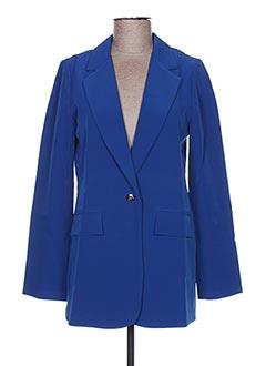 Veste chic / Blazer bleu LA FEE MARABOUTEE pour femme