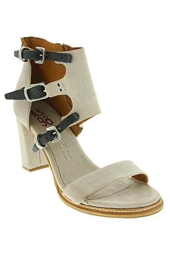 Sandales/Nu pieds beige A.S.98 pour femme