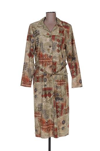 Robe mi-longue vert CHRISTIAN MICHEL pour femme