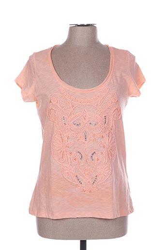T-shirt manches courtes orange CORTEFIEL pour femme