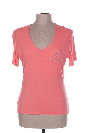 T-shirt manches courtes rose HONEY MOON pour femme