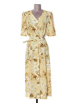 Robe mi-longue jaune FRANCOISE DE FRANCE pour femme