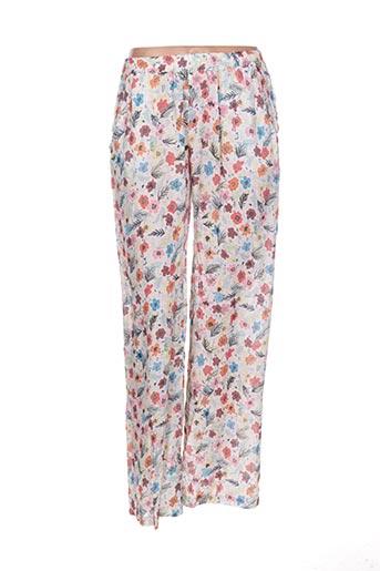 Pantalon casual rose CAP JULUCA pour femme
