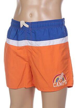Short de bain orange CAMPS UNITED pour homme
