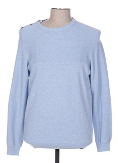 Pull col rond bleu TIBET pour homme