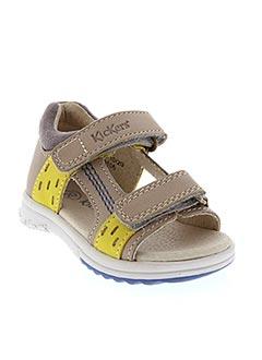 Sandales/Nu pieds beige KICKERS pour garçon