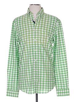 Chemise manches longues vert HECHTER STUDIO pour homme