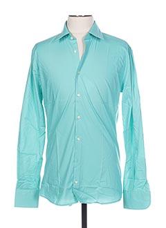 Chemise manches longues bleu DIGEL pour homme