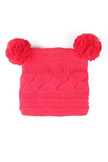 Bonnet rouge PUSBLU pour fille