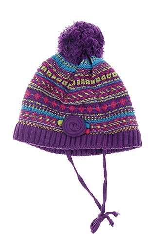 Bonnet violet PUSBLU pour fille