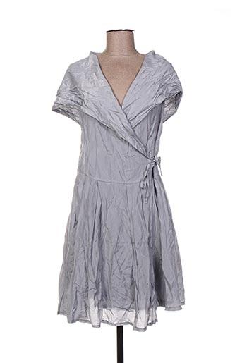 Robe mi-longue gris ARELINE pour femme