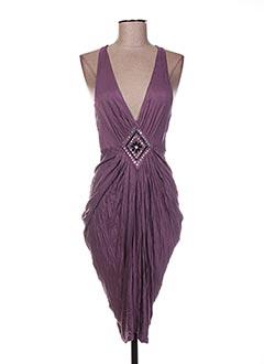 Robe mi-longue violet ARELINE pour femme