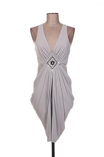 Robe courte gris ARELINE pour femme