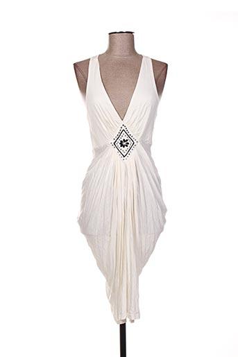 Robe mi-longue beige ARELINE pour femme