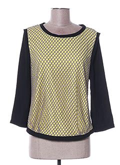 T-shirt manches longues jaune ARELINE pour femme