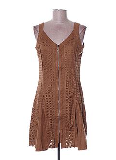 Robe courte marron ARELINE pour femme