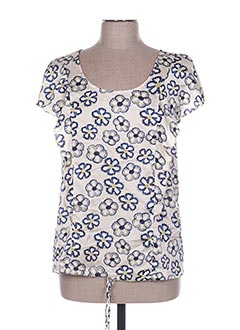 Blouse manches courtes bleu ARELINE pour femme