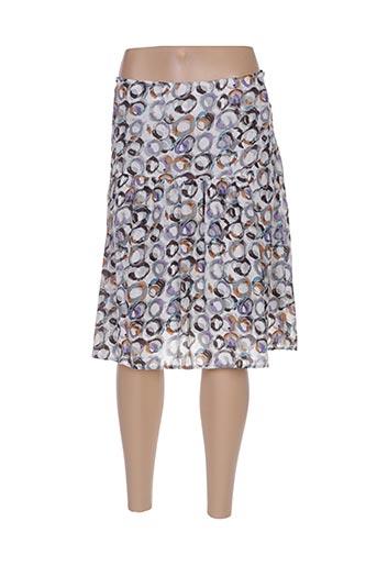 Jupe mi-longue gris ARELINE pour femme