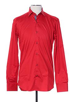 Chemise manches longues rouge AUTHENTIQUE pour homme