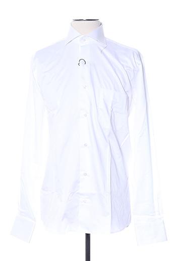 Chemise manches longues blanc AUTHENTIQUE pour homme
