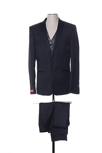 Costume de cérémonie noir LOUIS PURPLE pour homme