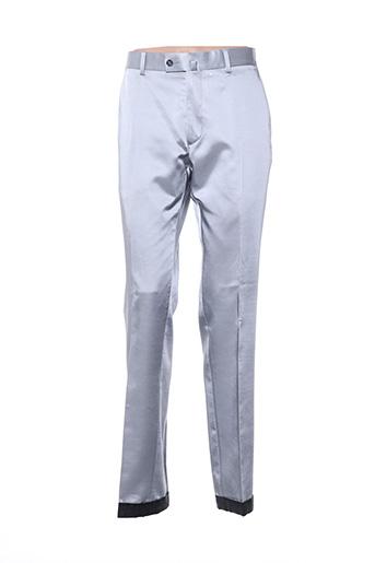 Pantalon chic gris LOUIS PURPLE pour homme