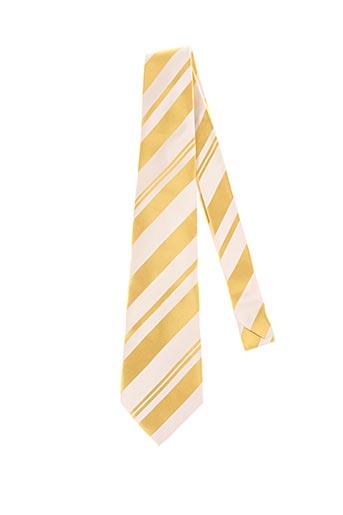 Cravate jaune AUTHENTIQUE pour homme