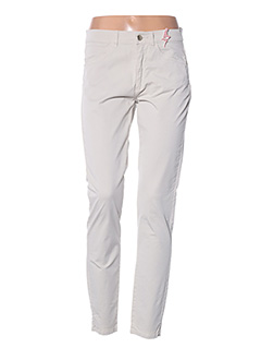 Pantalon casual beige DIANA GALLESI pour femme