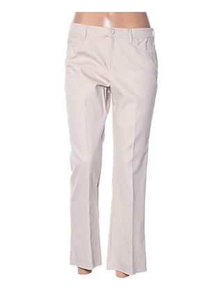Pantalon 7/8 beige DIANA GALLESI pour femme