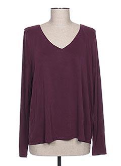 T-shirt manches longues violet VILA pour femme