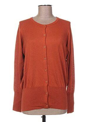 Gilet manches longues orange C.T.PLAGE pour femme