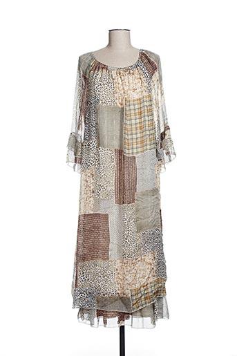 Robe longue marron EFYSE pour femme
